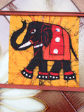 Hand Made Indian Elephant Om Batik Wall Hanging - Penny Bizarre - 12