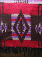 Nepalese Aztec Wool Throw Blanket Shawl - Penny Bizarre - 9