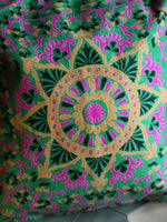 Indian Hand Made Silk Mandala Alpana Cushion Cover - Penny Bizarre - 2