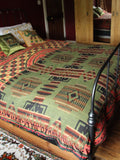 Nepalese Aztec Wool Throw Blanket Shawl - Penny Bizarre - 1
