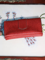 Vintage 70s Deep Red Faux Leather Purse - Penny Bizarre - 4