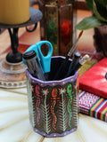 Nepalese Hand Painted Pen Holder - Penny Bizarre - 1