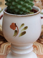 Hand Painted Vintage 1970's Pottery Plant Holder Goblet - Penny Bizarre - 4