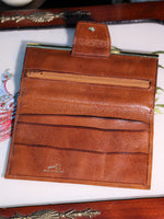 Vintage Large Tan Leather Purse - Penny Bizarre - 4