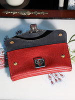 Vintage 70s Deep Red Faux Leather Purse - Penny Bizarre - 2
