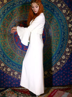 Vintage 1970s White Maxi Goddess Wedding Dress - Penny Bizarre - 2