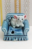 Vintage 60's 70's Mouse On A Sofa Ceramic Ornament Collectable - Penny Bizarre - 2