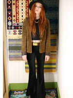 Vintage 1970s Tan Suede & Leather Jacket - Penny Bizarre - 2