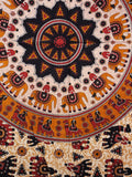 Indian Wall Hanging Single Throw Bedspread Elephant - Penny Bizarre - 2