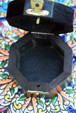Hand-made Indian Brass Inlay Wooden Box Pentagram Black - Penny Bizarre - 3
