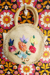 Vintage 70's Straw Tapestry Embroidered Bag - Penny Bizarre - 1