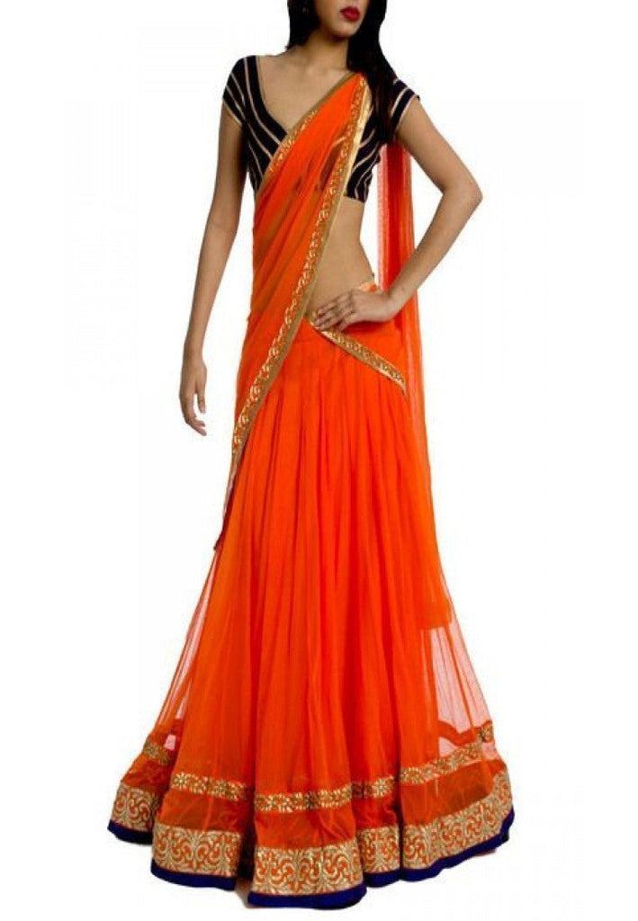 Orange Color Net Lehenga u00f8u00e5 u00e5