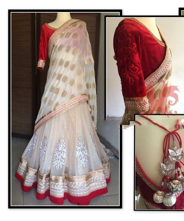 Off White Color Viscose Lehenga u00f8u00e5 u00e5