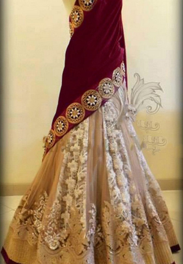 Off White Color Net Lehenga u00f8u00e5 u00e5