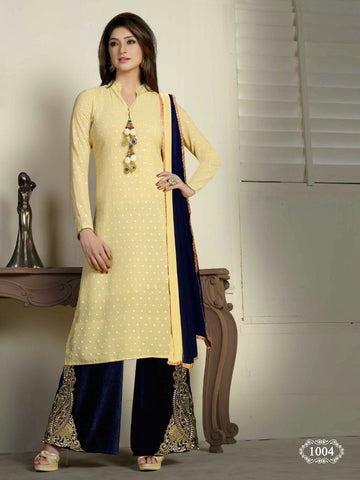 4 Color 4 Pcs Indian Pakistani Bollywood Designer Georgette Salwar Kameez Suit - Ethnicyug
