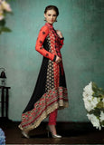 Black & Red Indian Pakistani Bollywood Designer Georgette Salwar Kameez Ethnic Party Wear - Ethnicyug