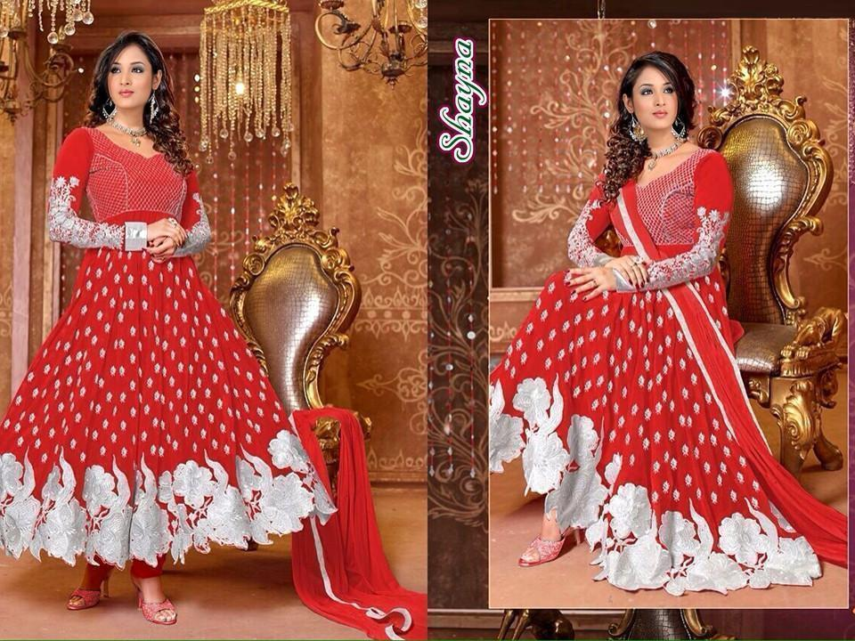 Sangeeta Saree Red Colour Anarkali Suit Order Online u00f8u00e5 u00e5