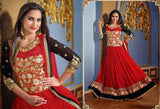 New Arrival Lara Dutta In Red Floor Length Anarkali Suit u00f8u00e5 u00e5