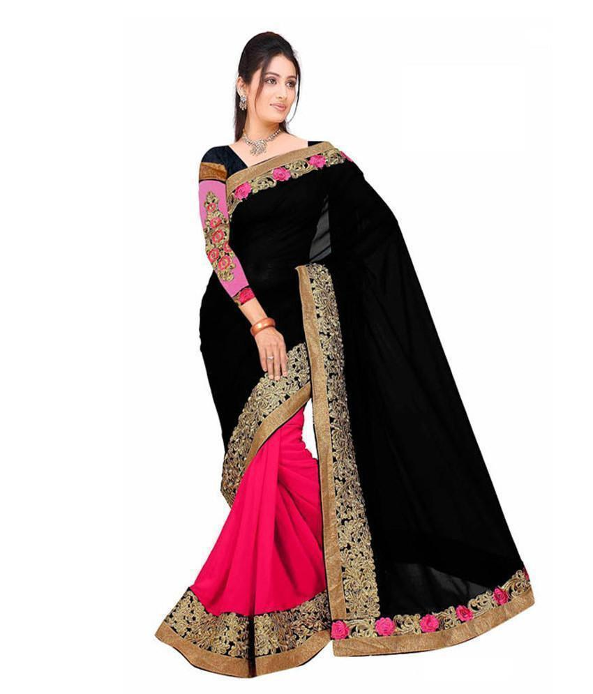 Stylish Divyanka Black Party wear Designer Saree Order Online u00f8u00e5 u00e5