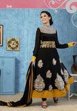 Black net anarkali suit with dupatta - Ethnicyug