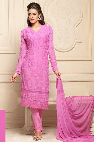Wonderful Pink Semi Stitched Party Wear Salwar Kameez EBSFSK15503F u00f8u00e5 u00e5