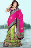 Multi Color Net Lehenga Saree u00f8u00e5 u00e5