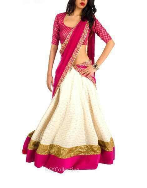 White Color Viscose Lehenga u00f8u00e5 u00e5