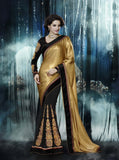 Black Color Georgette Saree - Ethnicyug