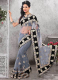 Grey Color Net Saree u00f8u00e5 u00e5