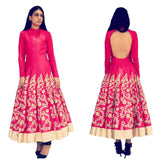 Designer pink embroidered anarkali