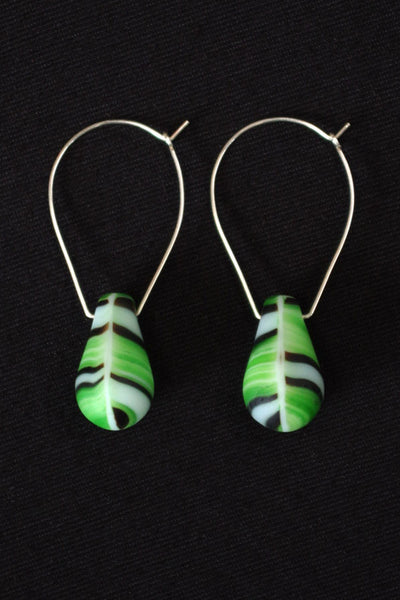 Bell Bottom in Green Zebra Stripes