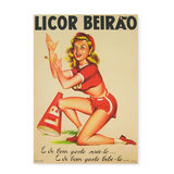 Poster Pin Up Licor Beirão