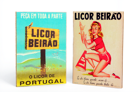 Íman Pin Up & Tabuleta Licor Beirão