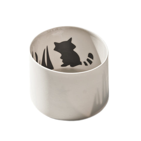 Little Tilley tealight, racoon, outlet item!