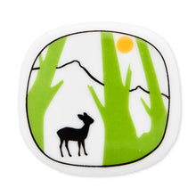 Load image into Gallery viewer, Brooch Deer And Green Trees