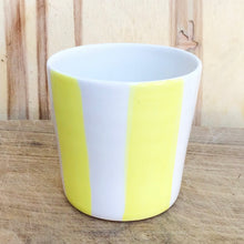 Load image into Gallery viewer, Alberta, light yellow striped cup
