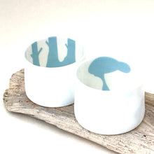 Load image into Gallery viewer, 2 Little Tilley tealights blue deer and stag