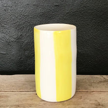 Load image into Gallery viewer, Big stripes vase, yellow