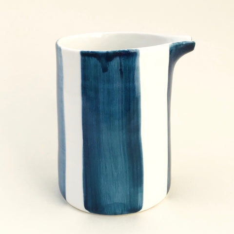Alberta pitcher, teal blue stripes
