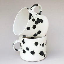 Load image into Gallery viewer, Large Dalmatian cup with a handle