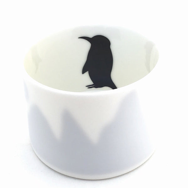Little Tilley tealight, penguin and mountains