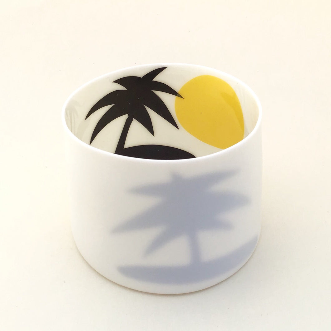 Little Tilley tealight, bold palmtrees and sun