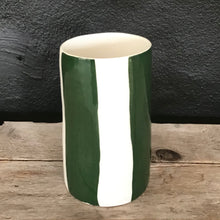 Load image into Gallery viewer, Big stripes vase, pine green