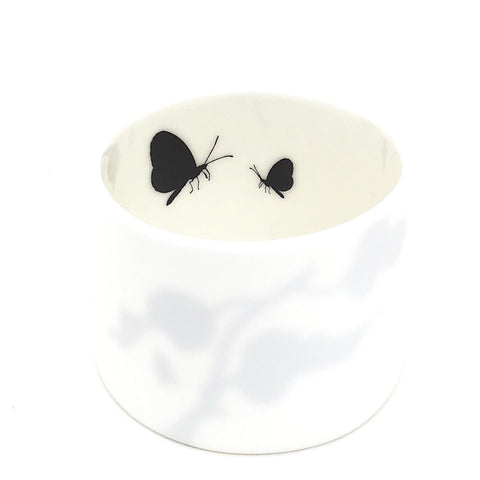 Little Tilley tealight, butterflies and leaves