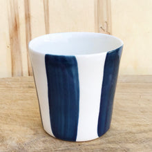 Load image into Gallery viewer, Alberta, teal blue striped cup