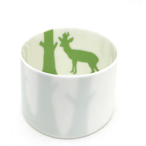 Little Tilley tealight, green deer
