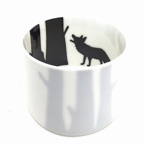 Little Tilley tealight, wolf and trees
