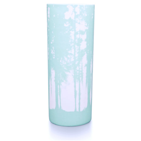 Woodlands vase, aquamarine
