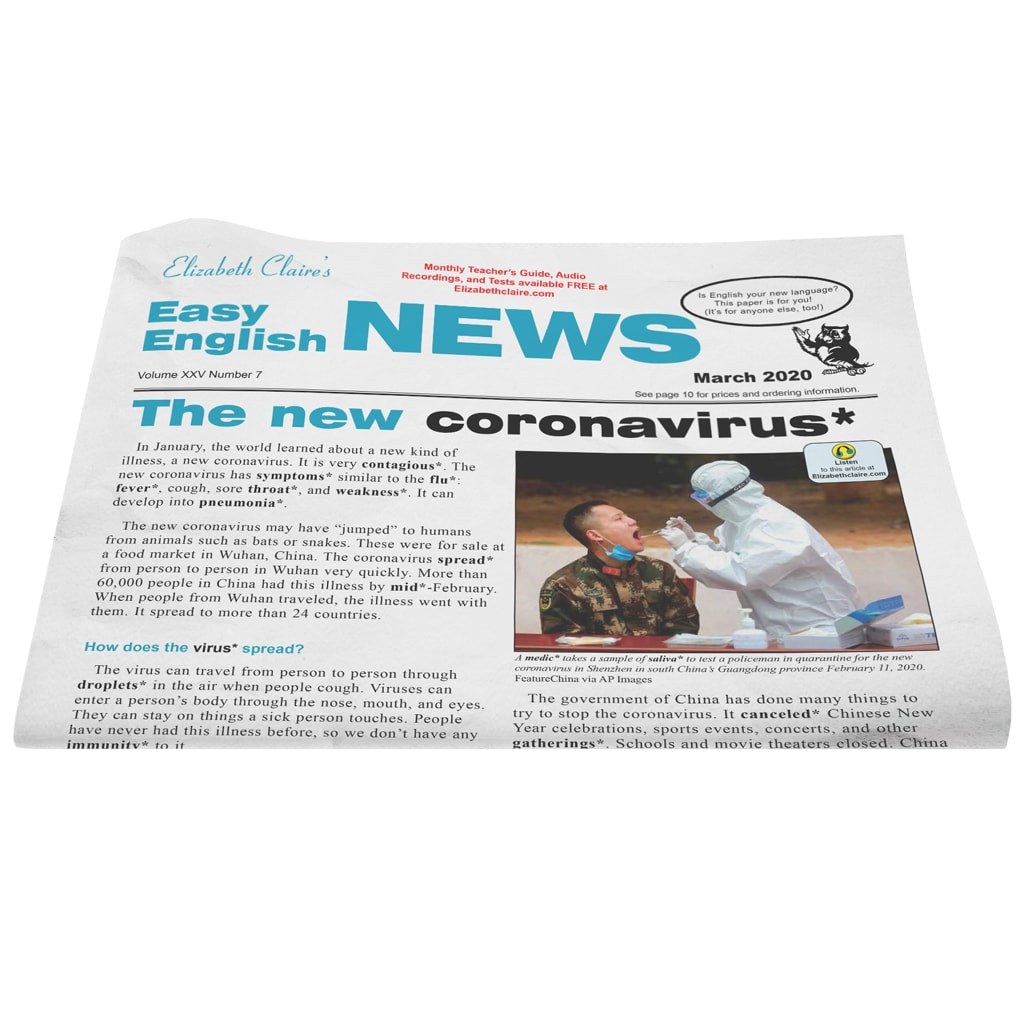 Easy English NEWS March 2020