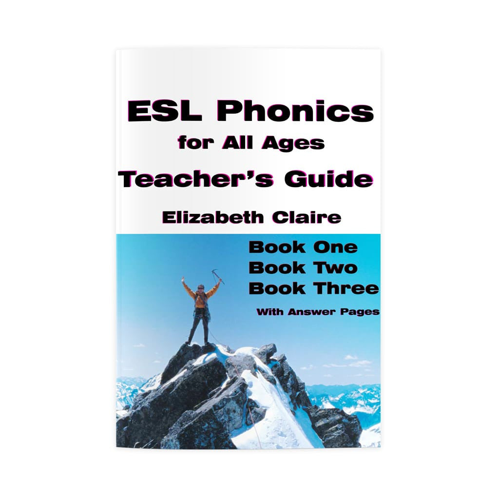 ESL Phonics for All Ages Teacher's Guides for Books One, Two, and Three